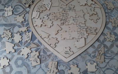 Puzzelen bij afscheid